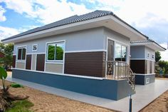 Elegant One Storey House Design - House And Decors Modern Bungalow House Design, One Storey House, House Design Pictures, Architectural House Plans, My House Plans, Storey Homes, Plan Design, Model Homes, New Homes
