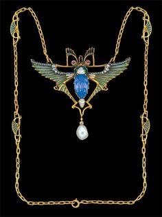 Léopold Albert Marin Gautrait  Art Nouveau Necklace