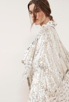 veste asymétrique sequins prêt-à-porter paris mode femme robe du soir collection vetement