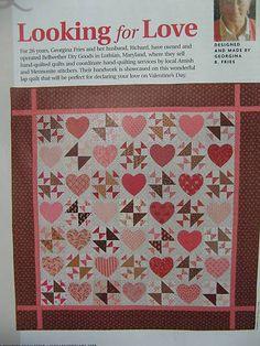 Valentine Hearts quilt