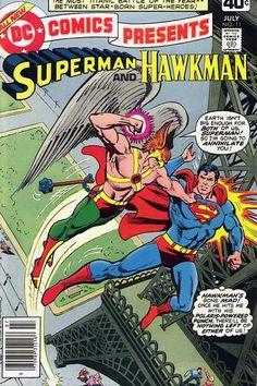 DC Comics Presents Vol. 2 No. 11 1979 Superman and Hawkman by TheSamAntics Dc Comic Books, Vintage Comic Books, Comic Book Covers, Vintage Comics, Superman Comic, Batman, Spiderman, Superman Stuff, Superman Family