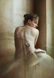 Zsuzsi  2007 oil on canvas 116 x 81 cm