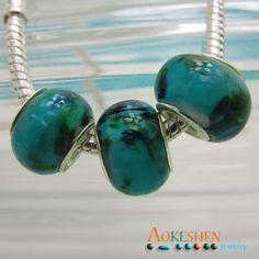 $1.39   Green Lampwork Murano Glass Bead Silver Core Fit Bracelet http://www.eozy.com/green-lampwork-murano-glass-bead-silver-core-fit-bracelet.html