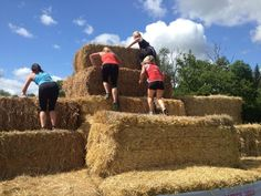 Taking on the hay bales at the Hambledon Estate Hay Bales, Get Healthy, Fitness Inspiration, Roman, Barn, Challenges, Games, Wedding, Valentines Day Weddings