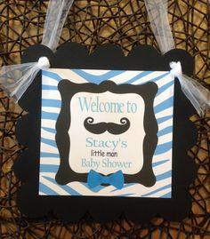 Door Hanger Mustache Bash or Little Man by EmeraldCityPaperie, $12.00