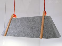 New Zealand-based Designtree's Frankie Lamps, which feature recycled felt shades set upon FSC-certified wood frames.