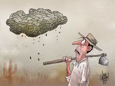 Ivan Cabral - charges e cartuns: Charge do dia: nuvem seca