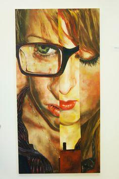 fractured portraiture high school art lesson great idea for scholastics art exhibit advanced or ap art (oil pastel colored pencil paint)