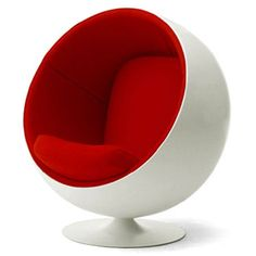 The Original Ball Chair. Red Design, Nordic Design, Smirnoff Red, Ball Chair, Living Room Colors, Mid Century Modern Furniture, New Room, Office Interiors, Decorative Bowls
