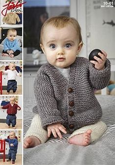 - Retstrikket basismodel til baby fra Järbo Knitting For Kids, Baby Knitting Patterns, Baby Barn, Baby F, Crochet Baby Clothes, Baby Sweaters, Baby Dress, Baby Gifts, New Baby Products