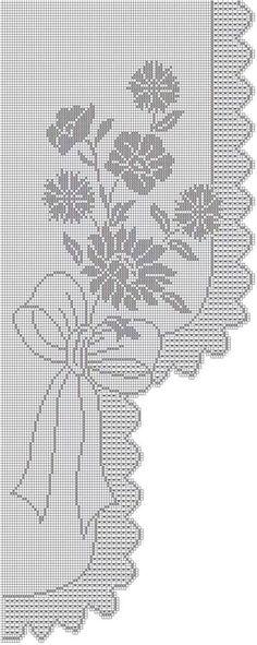 Crochet loin curtain - ElenaMa (Elena) 's post in the Community Crochet in the Crochet Accessories category Filet Crochet Charts, Crochet Motif, Crochet Designs, Crochet Doilies, Knit Crochet, Crochet Patterns, Crochet Home, Irish Crochet, Thread Crochet