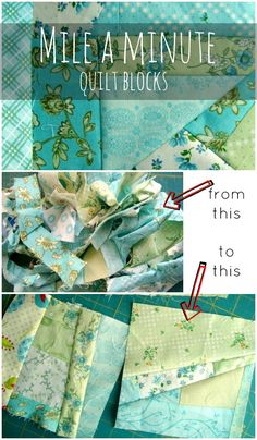 How to Sew a Mile a Minute - using scraps like this is so smart. I have a ton that would work for this!