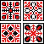 Eastern European Floral Folk Pattern