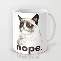 NOPE - Grumpy cat. Mug by John Medbury (LAZY J Studios) - $15.00