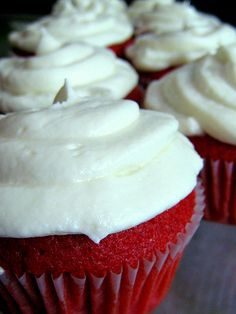 Spoiler: this is the red velvet cupcake recipe I use - see other pins for the accommodating icing.