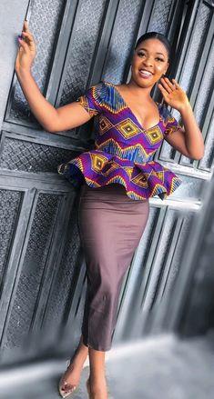 African Print Shirt, African Print Fashion, Africa Fashion, Ghana Fashion Dresses, Fashion Wear, Fashion Outfits, African Attire, African Wear, Ankara