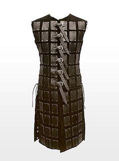 Long Leather Brigandine black