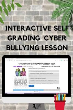 This Life Skills lesson on Cyber Bullying is completely remote and hosted online – simply give students the website and password and off they go. The interactive lesson is so simple to use. Students go through each slide, reading the content, learning new information and then answering questions on the topic to check their understanding. It provides immediate feedback for your students, as the correct answer is confirmed automatically. No more grading for you! Teacher Resources, Teaching Ideas, Bullying Lessons, Life Skills Lessons, Cyber Bullying, Guidance Lessons, Classroom Community, Coping Skills, Distance