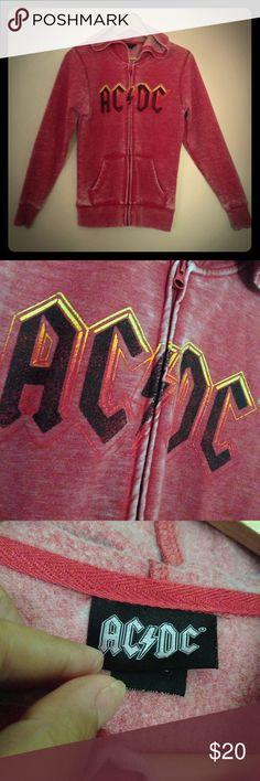 ACDC Zip-Up Hoodie Sweatshirt Sz S ACDC Zip-Up Hoodie Sweatshirt Sz S     This sweatshirt was worn 1 time, Great ACDC hoodie FUN Retro! Perfect for the rocker! ACDC Tops Sweatshirts & Hoodies