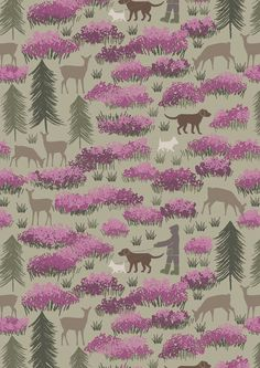 Lewis & Irene designed fabric range, A Walk In The Glen. Featuring rich Autumnal cotton fabric collection with 15 designs. Ideal fabric for quilting & more. Fabric Art, Fabric Design, Cotton Fabric, Charity Fund, Cafe Style, Green Fabric, Green Cotton, Four Legged, Surface Design
