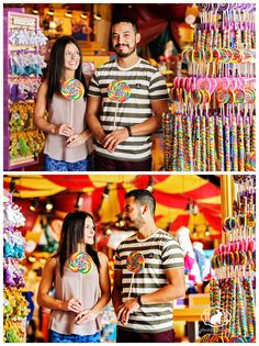 These colorful and bright engagement photos taken at Paradise Pier in Disneyland made my photography heart happy!