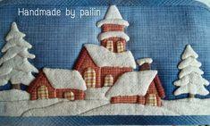 Mug Rug Patterns, Wool Applique Patterns, Applique Quilts, Quilt Patterns, Fabric Cards, Fabric Postcards, Quilt Display, Japanese Patchwork, Landscape Quilts