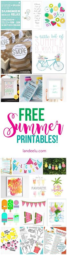 Awesome collection of free summer printables! Games, banners, bucket lists and … Awesome collection of free summer printables! Games, banners, bucket lists and more. So fun! Free Summer, Summer Diy, Summer Crafts, Spring Summer, Summer Party Games, Gaming Banner, Love Is Free, Free Fun, Party Printables