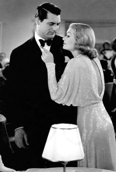 Constance Bennett & Cary Grant - In A Scene From Topper (1937)