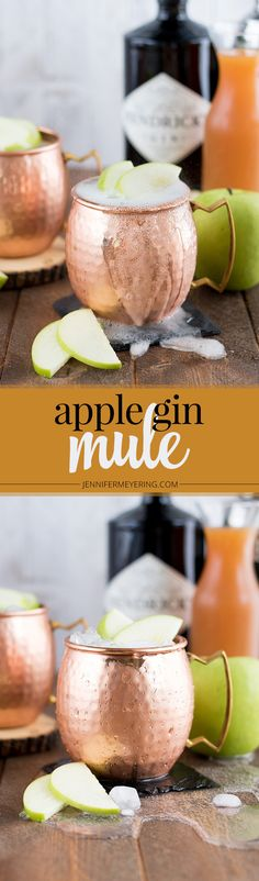 Start fall off on the right foot with this new twist on a classic moscow mule, made with Hendrick's Gin and apple cider! Gin Recipes, Alcohol Recipes, Cooking Recipes, Gin Cocktail Recipes, Milk Shakes, Decoration Cocktail, Christmas Cocktail, Bourbon, Gin Tasting