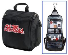 Ole Miss Cosmetic Bag or Mens Shaving Kit - Travel Bag University of Mississippi Makeup Toiletry Bag UNIQUE GIFT FOR MEN OR LADIES Broad Bay. $28.99