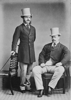 Tsarevich Alexandre Alexandrovich (Later Tsar Alexander III of Russia) with Major Christopher Teesdale. England, Courtesy of the RCT Vintage Photographs, Vintage Photos, Victorian Mens Clothing, Vintage Clothing, Grand Prince, Maria Feodorovna, Royal Photography, Crimean War, Royals