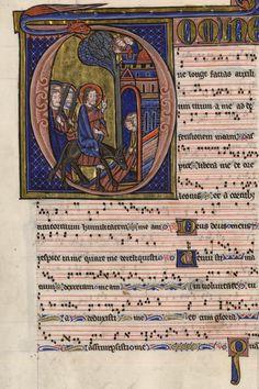 L'entrée du Christ à Jerusalem - Graduel de Fontevrault - XIIIe siècle. Bfm Limoges www.bn-limousin.fr/items/show/98