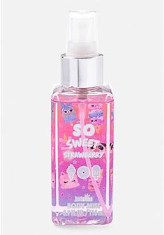Justice is your one-stop-shop for on-trend styles in tween girls clothing & accessories. Shop our Just Shine So Sweet Strawberry Body Mist. Kids Perfume, Justice Makeup, Justice Accessories, Unicorn Fashion, Unicorn Makeup, Kids Makeup, Cute School Supplies, Girl Bedroom Designs, Barbie