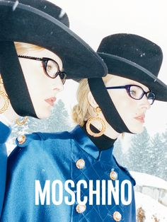 All eyes on Ophelie and Ymre for the new Moschino F/W12 Ad Campaign shot by Juergen Teller!