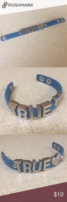 BCB Generation TRUE bracelet A blue BCB Generation TRUE snap bracelet. BCBGeneration Jewelry Bracelets