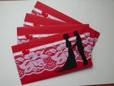 dekorace obálky se svatebním oznámením