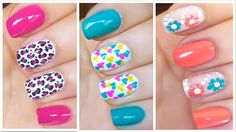 Here is the Easy and Simple Nail Designs for Beginners To Do At Home. Learn Easy Nail Art Designs with this Given Step by Step Tutorial Pictures. Cute Nail Art Designs, Nail Art Designs 2016, Simple Nail Designs, Cute Summer Nails, Spring Nails, Cute Nails, Nail Summer, Easy Nail Art, Cool Nail Art