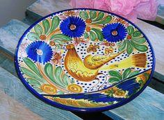 Belle assiette en céramique Vintage art et par VintageSyell sur Etsy
