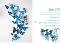 Butterflies wall stickers art Decals home Decoration. Please Allow 12 to 20 days fro deliveryPattern: StickerStyle: EuropeTheme: AnimalSpecification: Multi-piece PackageClassification: For WallMaterial: Plastic 3d Butterfly Wall Decor, 3d Wall Decor, Diy Butterfly, 3d Butterfly Wall Stickers, Wall Decorations, Art Decor, Family Tree Wall Decal, Kids Wall Decals, Wall Mural