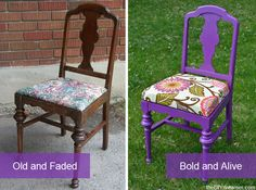 How to Paint a Chair + Learn how to reupholster! - theDIYdreamer.com