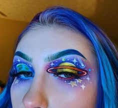 Crazy Eye Makeup, Face Makeup Art, Cool Makeup, Creative Eye Makeup, Unique Makeup, Sfx Makeup, Costume Makeup, Pretty Makeup, Beauty Makeup