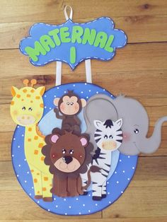 First Birthday Balloons, First Birthday Party Themes, Birthday Backdrop, Foam Crafts, Crafts To Make, Easy Crafts, Safari Party, Carnival Crafts, Animal Crafts For Kids