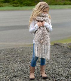 Silyer Scarf Crochet pattern by The Velvet Acorn Crochet Mittens, Crochet Scarves, Crochet Shawl, Knit Crochet, Crochet Pattern, Crochet Girls, Cute Crochet, Crochet For Kids, Sewing Patterns Free