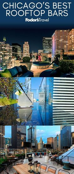 Chicago's Best Rooftop Bars : Whether you crave a new brunch spot, a chill lounge, or an open air space to kick back with some tunes, there's a rooftop bar for you. Chicago Vacation, Chicago Travel, Travel Usa, Chicago Trip, Las Vegas, Vacation Trips, Vacation Spots, Vacation Planner, Places To Travel