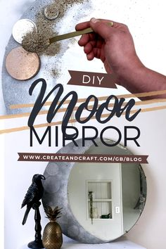 Bask in the silver glow of the moon all day long – by transforming a mirror into a spectacular lunar showpiece! Scour second-hand shops for a circular mirror and bring it back to life with just a few materials, and a little help from Penelope Quinn. Check out her step-by-step tutorial, and discover how to create your own DIY moon mirror to add instant galactic charm to your home decor! Moon Mirror, Diy Mirror, Easy Crafts, Easy Diy, Gothic Room, Moon Crafts, Moon Decor, Circular Mirror, Create And Craft
