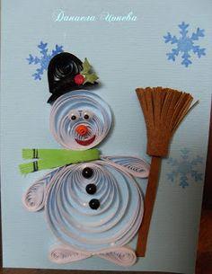 Quilled snowman