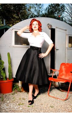 Our love affair with the Doris skirt continues! This gorgeous full skirt is pure vintage style in a luxe cotton sateen, with a wide vinyl belt to define your waist and a flattering full swing cut. - See more at: http://www.pinupgirlclothing.com/doris-skirt-black.html#sthash.Sl1T9sVX.dpuf