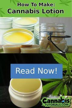 How To Make Cannabis Lotion, Cannabalm, or Ointment Weed Recipes, Salve Recipes, Marijuana Recipes, Cannabis Edibles, Cannabis Oil, Marijuana Facts, Life Hacks, Medical Cannabis, Health Remedies