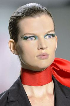 Seeing Blue And Green at Dior - Best Spring 2013 Makeup Looks