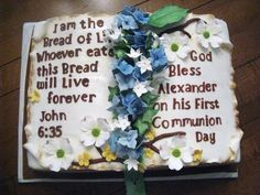 Communion Cakes For Boys | Bible Cake For A Boy S First Communion Photo On Flickriver - kootation ...